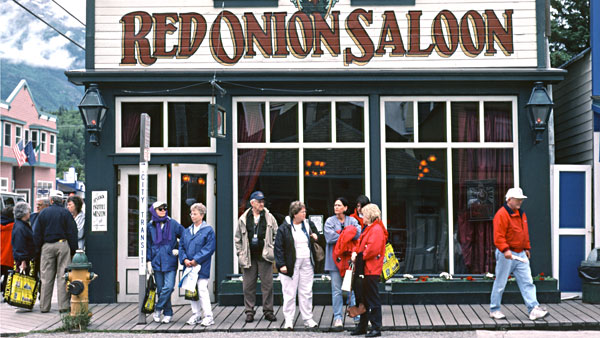 Legendärer Red Onion Saloon